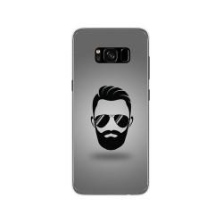 Funda Gel Tpu para Samsung Galaxy S8 Diseño Barba Dibujos