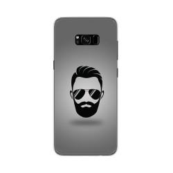 Funda Gel Tpu para Samsung Galaxy S8 Plus Diseño Barba Dibujos