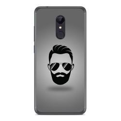 Funda Gel Tpu para Xiaomi Redmi 5 Diseño Barba Dibujos