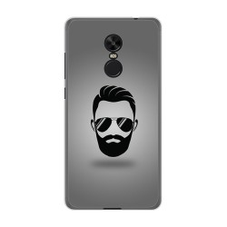 Funda Gel Tpu para Xiaomi Redmi Note 4X / 4 Version Global Diseño Barba Dibujos