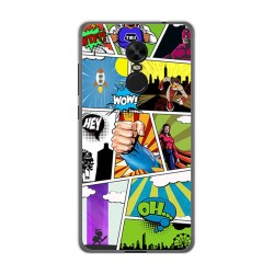 Funda Gel Tpu para Xiaomi Redmi Note 4X / 4 Version Global Diseño Comic Dibujos