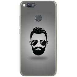 Funda Gel Tpu para Xiaomi Mi 5X / Mi A1 Diseño Barba Dibujos