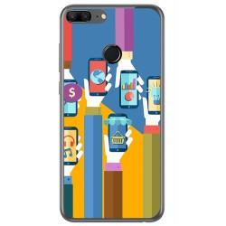 Funda Gel Tpu para Huawei Honor 9 Lite Diseño Apps Dibujos
