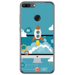 Funda Gel Tpu para Huawei Honor 9 Lite Diseño Cohete Dibujos