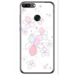 Funda Gel Tpu para Huawei Honor 9 Lite Diseño Flores Minimal Dibujos