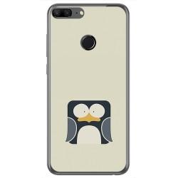 Funda Gel Tpu para Huawei Honor 9 Lite Diseño Pingüino Dibujos
