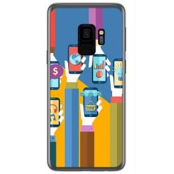 Funda Gel Tpu para Samsung Galaxy S9 Diseño Apps Dibujos