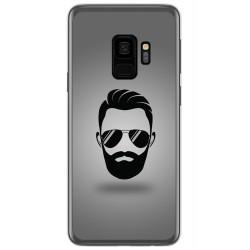 Funda Gel Tpu para Samsung Galaxy S9 Diseño Barba Dibujos