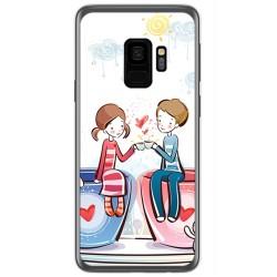 Funda Gel Tpu para Samsung Galaxy S9 Diseño Cafe Dibujos