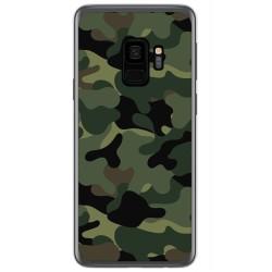 Funda Gel Tpu para Samsung Galaxy S9 Diseño Camuflaje Dibujos