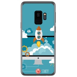 Funda Gel Tpu para Samsung Galaxy S9 Diseño Cohete Dibujos