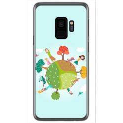 Funda Gel Tpu para Samsung Galaxy S9 Diseño Familia Dibujos