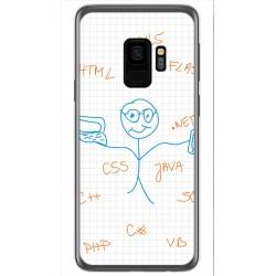 Funda Gel Tpu para Samsung Galaxy S9 Diseño Informatico Dibujos