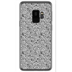 Funda Gel Tpu para Samsung Galaxy S9 Diseño Letras Dibujos