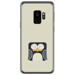 Funda Gel Tpu para Samsung Galaxy S9 Diseño Pingüino Dibujos