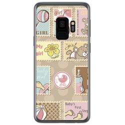 Funda Gel Tpu para Samsung Galaxy S9 Diseño Sellos Dibujos