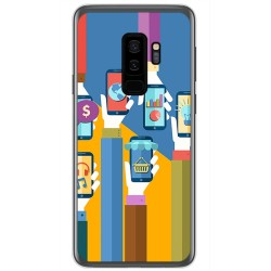 Funda Gel Tpu para Samsung Galaxy S9 Plus Diseño Apps Dibujos