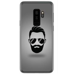 Funda Gel Tpu para Samsung Galaxy S9 Plus Diseño Barba Dibujos