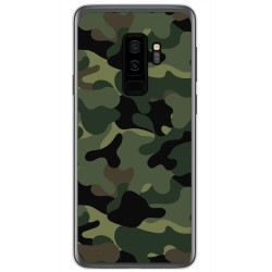 Funda Gel Tpu para Samsung Galaxy S9 Plus Diseño Camuflaje Dibujos