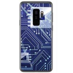 Funda Gel Tpu para Samsung Galaxy S9 Plus Diseño Circuito Dibujos