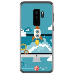 Funda Gel Tpu para Samsung Galaxy S9 Plus Diseño Cohete Dibujos