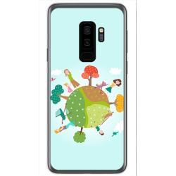 Funda Gel Tpu para Samsung Galaxy S9 Plus Diseño Familia Dibujos