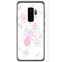 Funda Gel Tpu para Samsung Galaxy S9 Plus Diseño Flores Minimal Dibujos