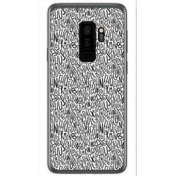 Funda Gel Tpu para Samsung Galaxy S9 Plus Diseño Letras Dibujos