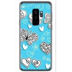 Funda Gel Tpu para Samsung Galaxy S9 Plus Diseño Mariposas Dibujos