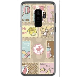 Funda Gel Tpu para Samsung Galaxy S9 Plus Diseño Sellos Dibujos