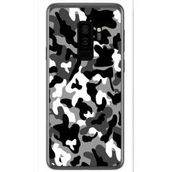 Funda Gel Tpu para Samsung Galaxy S9 Plus Diseño Snow Camuflaje Dibujos
