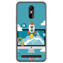 Funda Gel Tpu para Zte Blade A602 Diseño Cohete Dibujos