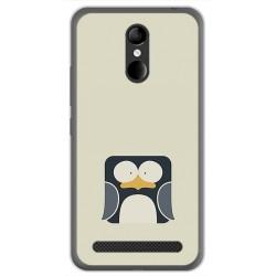Funda Gel Tpu para Zte Blade A602 Diseño Pingüino Dibujos