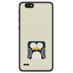 Funda Gel Tpu para Zte Blade A330 Diseño Pingüino Dibujos