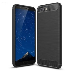 Funda Gel Tpu Tipo Carbon Negra para Huawei Honor View 10