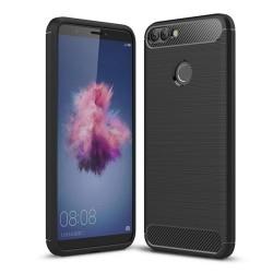 Funda Gel Tpu Tipo Carbon Negra para Huawei P Smart
