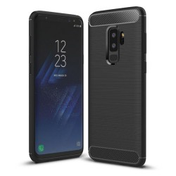 Funda Gel Tpu Tipo Carbon Negra para Samsung Galaxy S9 Plus