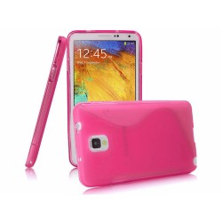 Funda Gel Tpu Samsung Galaxy Note 3 III N9000 / N9005 S Line Color Rosa