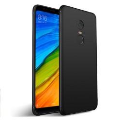 Funda Gel Tpu Tipo Mate Negra para Xiaomi Redmi 5 Plus