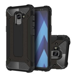 Funda Tipo Hybrid Tough Armor (Pc+Tpu) Negra para Samsung Galaxy A8 (2018)