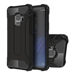 Funda Tipo Hybrid Tough Armor (Pc+Tpu) Negra para Samsung Galaxy S9