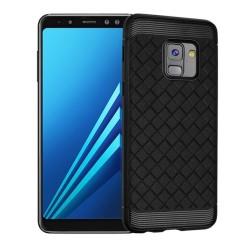 Funda Gel Tpu Tipo Grid Negra para Samsung Galaxy A8 (2018)