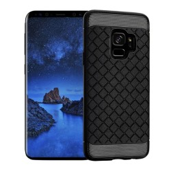 Funda Gel Tpu Tipo Grid Negra para Samsung Galaxy S9