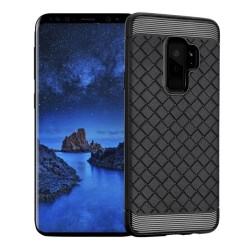 Funda Gel Tpu Tipo Grid Negra para Samsung Galaxy S9 Plus