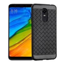 Funda Gel Tpu Tipo Grid Negra para Xiaomi Redmi 5 Plus