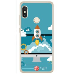 Funda Gel Tpu para Xiaomi Redmi Note 5 / Note 5 Pro Diseño Cohete Dibujos