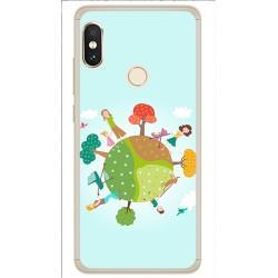 Funda Gel Tpu para Xiaomi Redmi Note 5 / Note 5 Pro Diseño Familia Dibujos