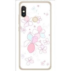 Funda Gel Tpu para Xiaomi Redmi Note 5 / Note 5 Pro Diseño Flores Minimal Dibujos