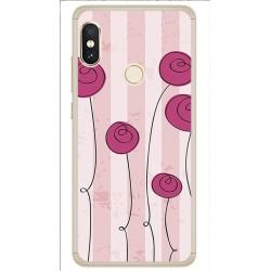 Funda Gel Tpu para Xiaomi Redmi Note 5 / Note 5 Pro Diseño Flores Vintage Dibujos