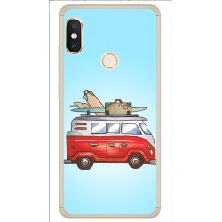 Funda Gel Tpu para Xiaomi Redmi Note 5 / Note 5 Pro Diseño Furgoneta Dibujos